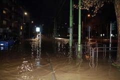 Milan den fiumeseveso floden Arkivfoto