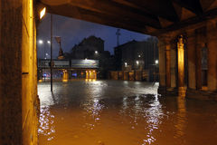 Milan den fiumeseveso floden Arkivfoton