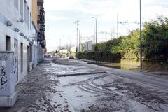 Milan den fiumeseveso floden Royaltyfri Bild
