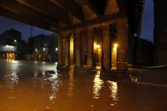 Milan den fiumeseveso floden Arkivbild