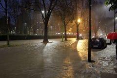 Milan den fiumeseveso floden Arkivbilder