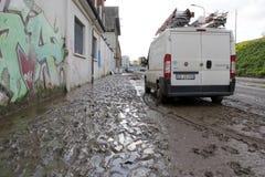 Milan den fiumeseveso floden Royaltyfria Foton