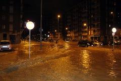 Milan det fiumeseveso överflödet Arkivbilder