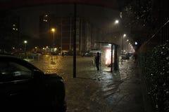 Milan det fiumeseveso överflödet Royaltyfria Bilder