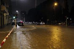 Milan det fiumeseveso överflödet Arkivbild
