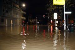 Milan det fiumeseveso överflödet Royaltyfri Bild