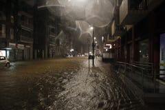 Milan det fiumeseveso överflödet Fotografering för Bildbyråer