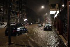 Milan det fiumeseveso överflödet Arkivfoton