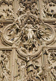 Milan - detail from  bronze gate - Pieta Royalty Free Stock Photography