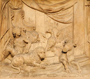 Milan - detail from Dom - prophecy of Jesaiah Royalty Free Stock Images