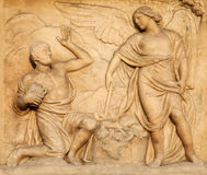 Milan - detail from facade of Dom Stock Photography
