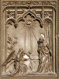 Milan - detail from gate - Annuntiation Stock Images