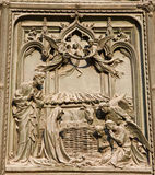 Milan - detail from gate - Christmas - crib Royalty Free Stock Photo