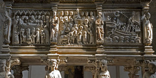 Milan - detail of relief from Arca S. Pietro. Cappella Portinari Royalty Free Stock Photos