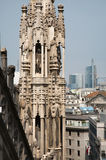 Milan - detail from roof of Duomo cathedral Royalty Free Stock Photo