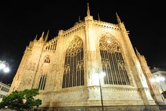 Milan dome - altar facade by night Stock Images