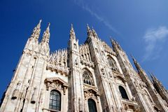 Milan Dome architecture , Italy Stock Image
