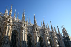 Milan Dome Detail. The gothic roof detail at the cathedral in Milan Royalty Free Stock Photography