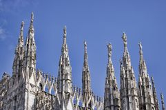 Milan dome details. Duomo di Milano cathedral. Italy Royalty Free Stock Photo