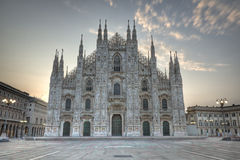 Milan Dome dusk Royalty Free Stock Image