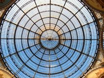 Milan - Dome of the Gallery. Milan, Lombardy, Italy - April 27, 2016: the Dome of Vittorio Emanuele II Gallery. Built between 1865 and 1876 in neo-Renaissance Stock Photo