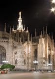 Milan dome at night stock photography