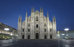 Milan Dome at night Royalty Free Stock Images