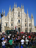 MILAN DOME & PEOPLE, ITALIAN LIBERATION DAY Royalty Free Stock Image