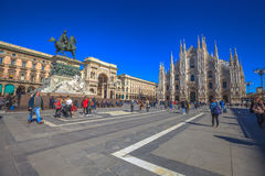 Milan Dome square Stock Images