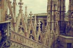 Milan domkyrka, arkitektur. Italien royaltyfri foto