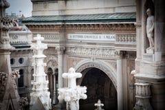 Milan domkyrka, arkitektur. Italien Royaltyfria Bilder