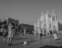 Milan domkyrkafyrkant Arkivfoto