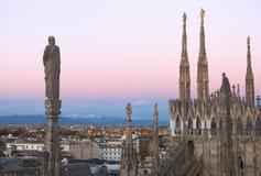 Milan Duomo arkivfoton