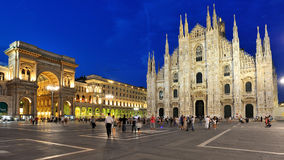 Milan - the Duomo cathedral and Galleria Royalty Free Stock Photos