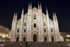 Milan - Duomo - cathedral at night Stock Image