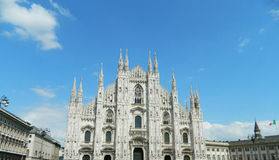 Milan Duomo with clear blue sky. royalty free stock image