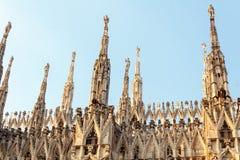 Milan Duomo Details Fotografia Stock Libera da Diritti
