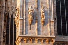 Milan Duomo Details Stock Photos