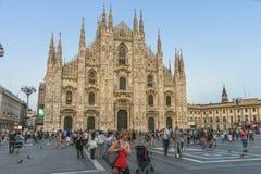 Milan - Duomo. At evening time Italy , Europe stock image