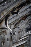 Milan - Duomo från taket Arkivfoto