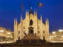 Milan Duomo Front Flag Royalty Free Stock Images
