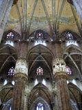 Milan Duomo, Interior Stock Photo