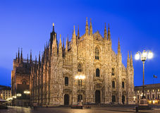 Milan Duomo L Steetlight Stock Images