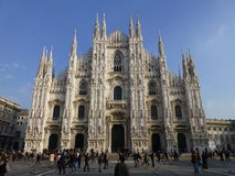 Milan Duomo Milan Italien Arkivfoto