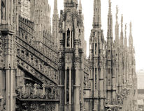 Milan Duomo. Roof. Royalty Free Stock Photo
