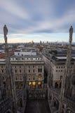 Milan Duomo rooftop Stock Photos