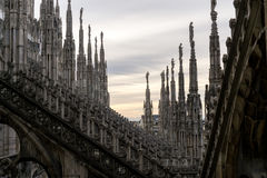Milan Duomo rooftop Royalty Free Stock Photography