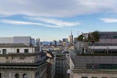 Milan Duomo rooftop Stock Photo