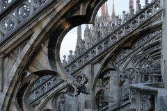 Milan Duomo rooftop Royalty Free Stock Photography