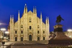 Milan Duomo Statue Rise Royalty Free Stock Images
